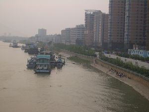 Hanshui - The Hankou side of the Han River in Wuhan