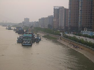 Han River (Hubei) - The Hankou side of the Han River in Wuhan
