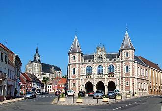 Auxi-le-Château - The town centre of Auxi-le-Château