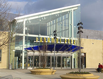 Paramus Park - The west main entrance of the mall.