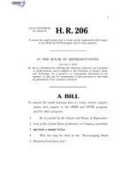 116th United States Congress H. R. 0000206 (1st session) - Encouraging Small Business Innovation Act A - Introduced in House.pdf