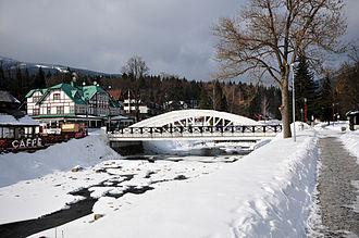 Špindlerův Mlýn - Bílý most (White Bridge) from 1911