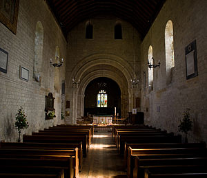 Southwick Priory - The interior of the church