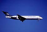148ay - Montenegro Airlines Fokker 100, YU-AOK@ZRH,28.09.2001 - Flickr - Aero Icarus.jpg