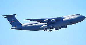 155th Airlift Squadron - 155th Airlift Squadron - Lockheed C-5 Galaxy taking off from Memphis International Airport
