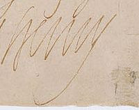 1585 signature of King Henri IV of France.jpg