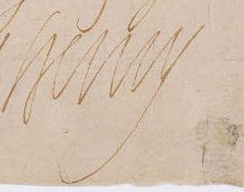 1585 signature of King Henri IV of France