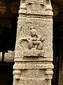 15th-16th century Achyutaraya temple yoga asana 14, female yogini, Hampi Hindu monuments Karnataka.jpg