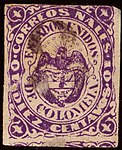 1868 10c EU de Colombia used Yv42 Mi47.jpg