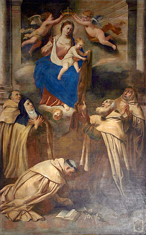 Antonio Barbalonga - Antonio Alberti, Madonna and Carmelite saints, in the Santa Caterina d'Alessandria church in Taormina, Italy