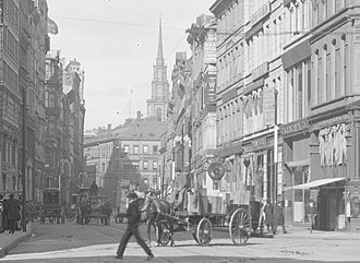 Summer Street (Boston) - Image: 1904 Summer St Boston by Detroit Publishing Co detail 2