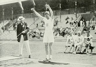 Athletics at the 1912 Summer Olympics – Men's standing long jump - Platt Adams winning the silver medal.
