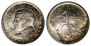 Cleveland Centennial half dollar - Image: 1936 50C Cleveland