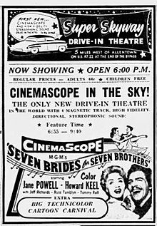 1954 - Super Skyway Drive-In Ad - 8 Oct MC - Allentown PA.jpg