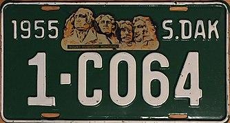 1955 South Dakota license plate.jpg