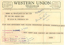 Example Of A Western Union Telegram 1959 Note That The Message Text Is Continuous Strip Paper Which Was Cut And Glued To Form
