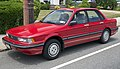 1989 Mitsubishi Galant in red, front left.jpg