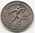 1 песо. Куба. 1983. XXIII летние Олимпийские Игры, Лос-Анджелес 1984 - Метание диска.jpg