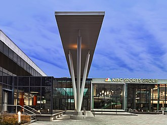 Stamford, Connecticut - NBC Sports Group world headquarters at 1 Blachley Road in Stamford, Connecticut.