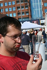 2008-10-04 Attendee needs a refill at Beer Fest.jpg