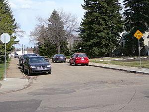 Belgravia, Edmonton - Residential street in Belgravia