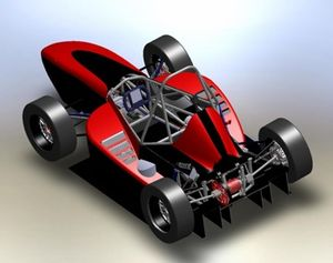 Rutgers Formula Racing - Official Model of the RFR-09.