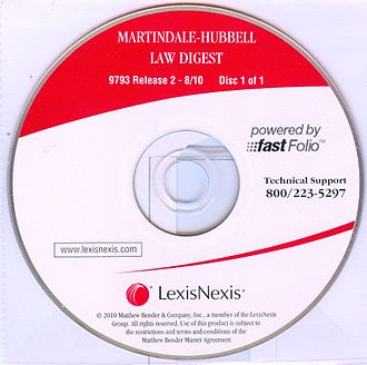 Martindale-Hubbell - 2010 Edition of Martindale Hubbell Law Digest ON CD-ROM.  This was the last published edition of the Law Digest. Some of noted revisers were Faculty of Law, University of Cambridge, University College Dublin, National University of Ireland, Université libre de Bruxelles, University of South Carolina School of Law, Faculty of Law, University of Auckland, Garrigues, Coudert Brothers, Altheimer & Gray, White & Case, Squire, Sanders & Dempsey LLP, Curtis, Mallet-Prevost, Colt & Mosle, Borden Ladner Gervais, Allens Arthur Robinson, Finnegan, Henderson, Farabow, Garrett & Dunner, Miller, Canfield, Paddock & Stone etc.