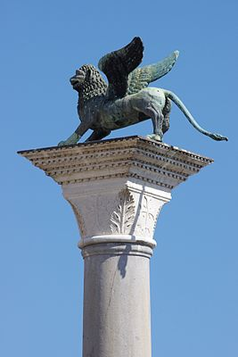 A winged lion, the symbol of San Marco