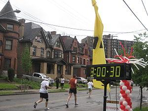 Pittsburgh Marathon - 2011 Marathon runners pass through Friendship's Negley Avenue.