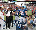 2013 Pro Bowl coin toss Adm Haney Ed Hochuli Charles Tillman Jeff Saturday.jpg