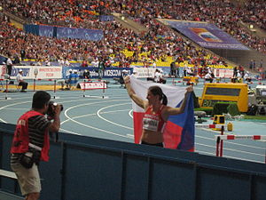 2013 World Championships in Athletics – Women's 400 metres hurdles - Gold medalist Zuzana Hejnová