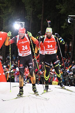 2014-04-01 Biathlon World Cup Oberhof - Mens Pursuit - 24 Daniel Böhm und 34- Simon Fourcade