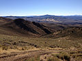 2014-10-03 15 49 51 View south along Poison Spring Road descending from the main ridgeline of the Diamond Mountains between Newark Summit and Diamond Peak, Nevada.JPG