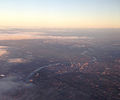 2014-12-19 16 10 37 View of the lower Raritan River, New Brunswick and adjacent towns in central New Jersey from a plane heading for Newark Airport.JPG