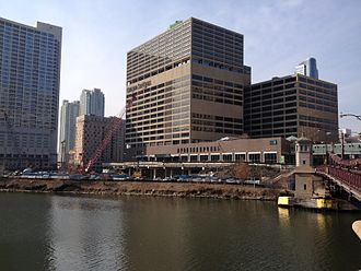 Wolf Point South Tower - The site of Wolf Point South Tower in March 2014