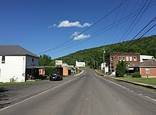 2016-06-06 17 35 10 View north along West Virginia State Route 90 (Front Street) between Buffalo Avenue and Potomac Avenue in Bayard, Grant County, West Virginia.jpg