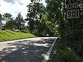 2016-08-25 15 23 23 View west along West Virginia State Route 901 (Hammonds Mill Road) at Vineyard Road in Spring Mills, Berkeley County, West Virginia.jpg