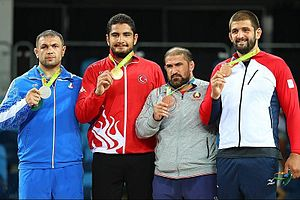 Wrestling at the 2016 Summer Olympics – Men's freestyle 125 kg - Image: 2016 Summer Olympics, Men's Freestyle Wrestling 125 kg final 9