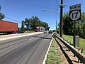 2018-07-19 11 35 44 View north along New Jersey State Route 17 just north of the exit for Bergen County Route 62 (Passaic Street) in Rochelle Park Township, Bergen County, New Jersey.jpg