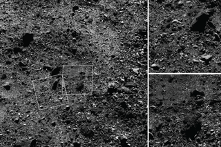 Trio of images showing the Northern Hemisphere of Bennu