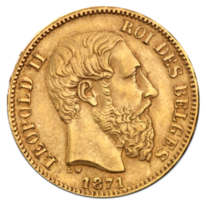 20 Belgian Franc Leopold II gold coin.png