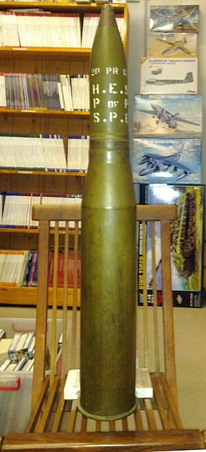 Ordnance QF 20-pounder - 20 pdr HE round