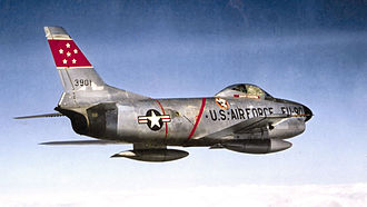Eastern Air Defense Sector - 332d Fighter-Interceptor Squadron North American F-86D-45-NA Sabre 52-3901, 4709th Air Defense Wing, McGuire AFB, New Jersey, 1956