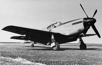RAF Goxhill - A P-51B Mustang of the 354th Fighter Group at Goxhill, 1944.