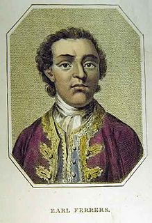 Laurence Shirley, 4th Earl Ferrers British Earl