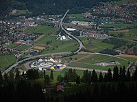 5647 - Schynige Platte - View of Mystery Park in Interlaken-Bönigen.JPG