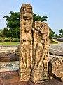 5th - 7th century reliefs and statue Baleshwar Shiva temple ruins, Sirpur Hindu monuments Chhattisgarh 2.jpg