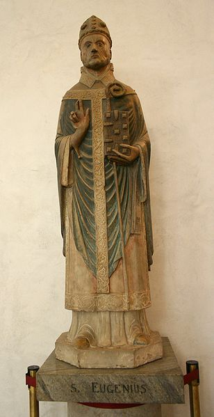 Den hellige Eugenius av Kartago, statue i kirkemuseet i Sant'Eustorgio i Milano