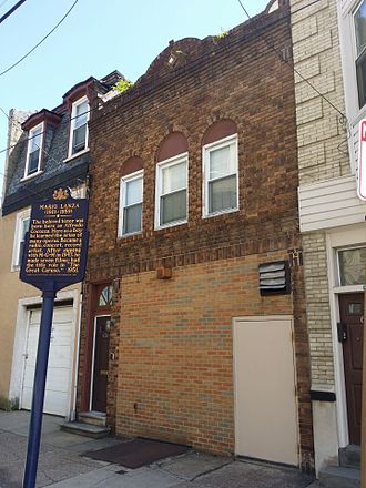 Mario Lanza - Mario Lanza birthplace, 636 Christian Street, Philadelphia June 8, 2016 (Demolished July 2018)