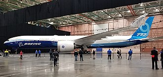 Boeing 777X - Boeing 777-9X on its roll-out in March 2019